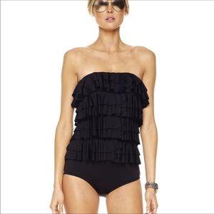 Michael Kors Ruffle Bandeau Maillot Swim Suit 8